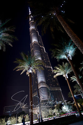 The Burj Khalifa at Night - Dubai, United Arab Emirates