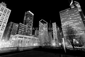 Chicago Downtown at Night