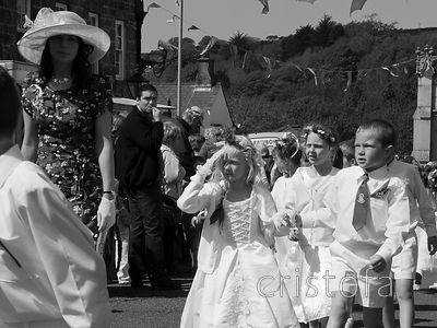 young people take part in the Helston Flora Day dance