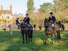 Jeremy Dale at the  Belvoir Hunt meet at Eaton Grange 2/1