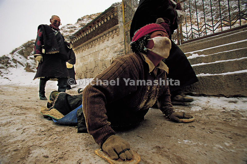 The ciak is probably the most demanding form of pilgrimage in the world. Prostrating themselves fully, worshippers cover tens...