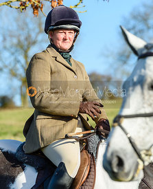 Rebecca Vernon at the meet. The Belvoir Hunt at Debdale Farm 10/11