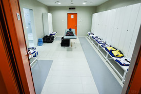 dressing room during the Final Tournament - Final Four - SEHA - Gazprom league, third place match, Varazdin, Croatia, 03.04.2...
