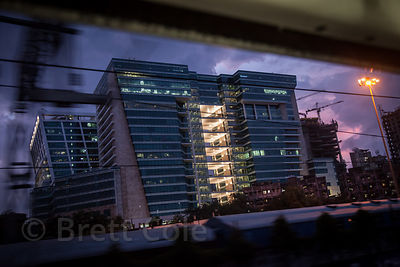 Office buildings near the Elephinstone Road Railway Station, Mumbai, India.