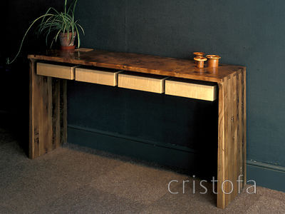 an elm sideboard with sycamore drawers