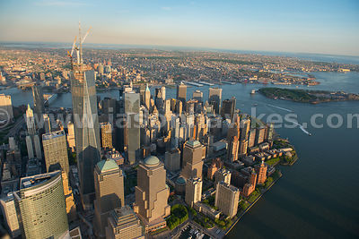 Towering above the rest of the Financial District is the newly constructed Freedom Tower, 1 World Trade Centre with Governors...