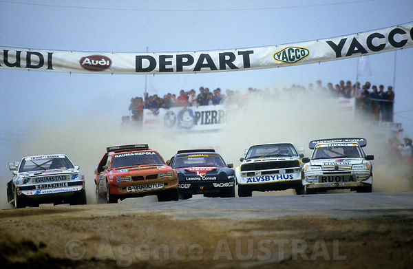 Rallycross Championnat d'Europe - Le Creusot - 1987 - Audi S1 - Lancia Delta S4 - Ford RS200 - Audi A2 - 205T16 evo2 Photo Fr...