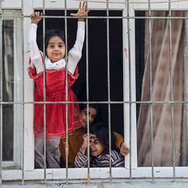 Children at window, Istanbul