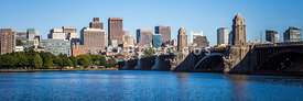 Boston Skyline Panorama with Longfellow Bridge