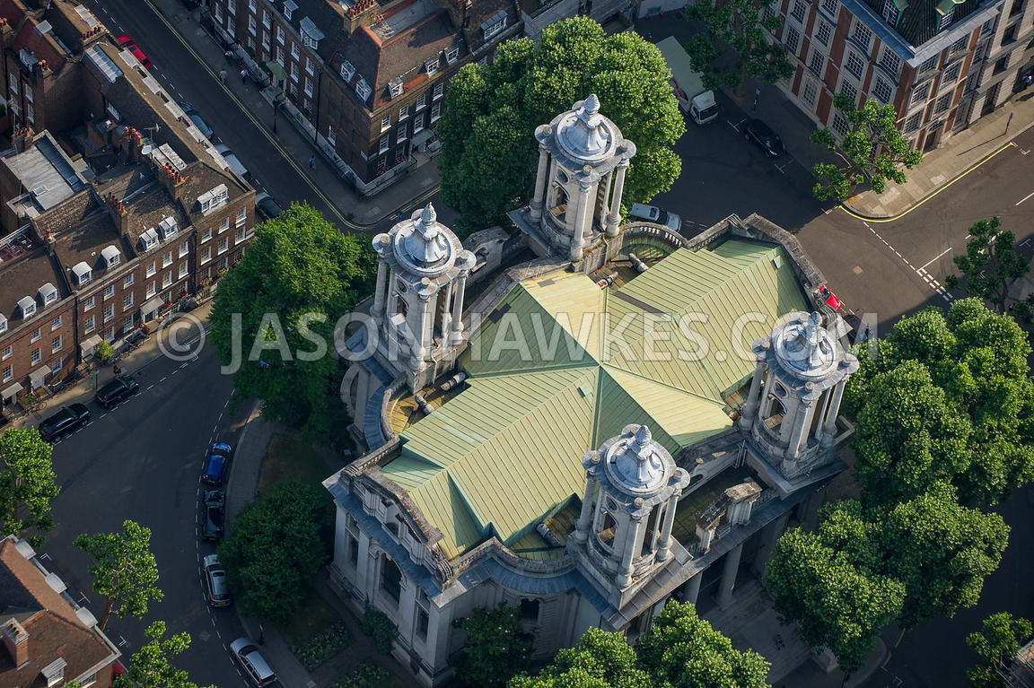 Aerial view of St John's, Smith Square, London