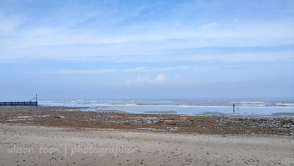 West Runton beach after the Beast From The East