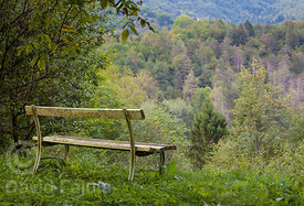 Bench with views of Triglav National Park