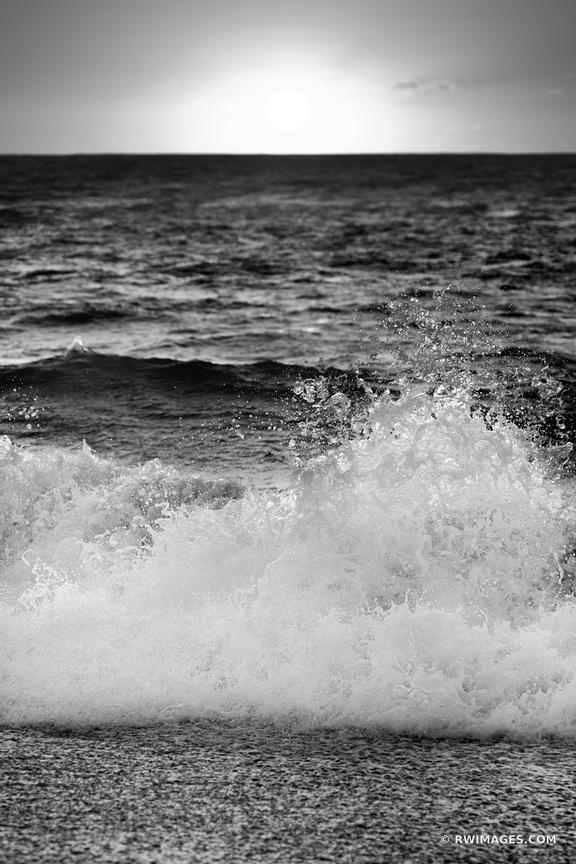 SUNRISE ATLANTIC OCEAN OUTER BANKS NORTH CAROLINA BLACK AND WHITE