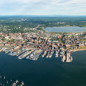 Panoramic View Over Portland, Maine