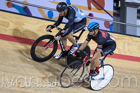Master B Men Sprint 1/2 Final. Canadian Track Championships, Mattamy National Cycling Centre, Milton, On, September 25, 2016