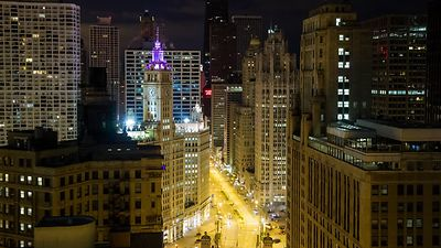 Wide Shot: Five Hours On Michigan Avenue With Wrigley's Clock Tower