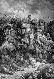 Richard the Lionhearted at Battle of Arsuf AKA Azofus during Crusades