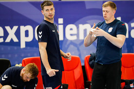 Peter Djordjic and Ivan Matckevich of team Meshkov Brest training during the Final Tournament - Final Four - SEHA - Gazprom l...