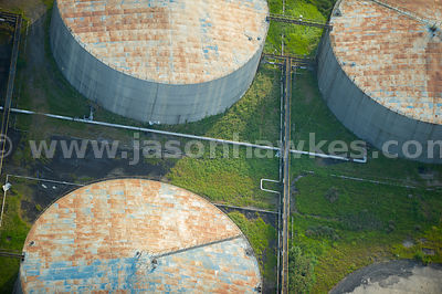 Aerial view of Kingsnorth Power Station, Medway, Kent