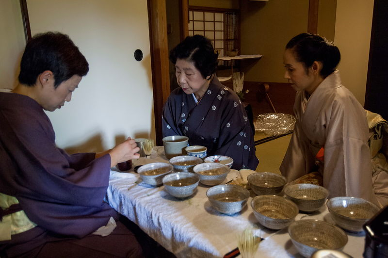 Tea-ceremony preparation