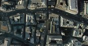 London Aerial Footage of City of London financial district