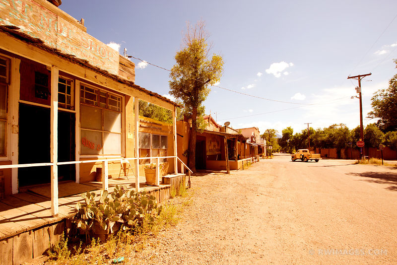 MAIN STREET RURAL TOWN OLD WEST TURQUOISE TRAIL NEW MEXICO