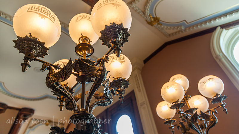 Details of the lamps at the State Capitol