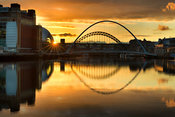 Sunset on the Tyne