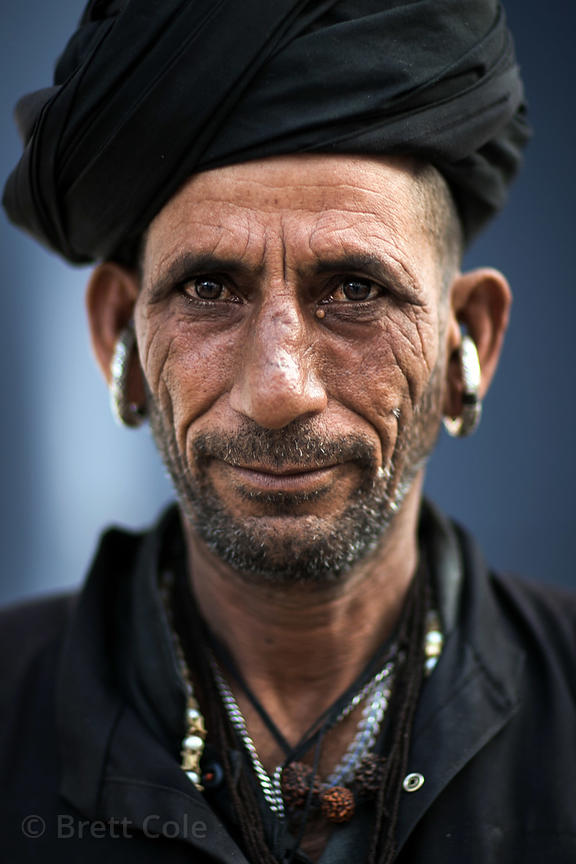 Tribal man on pilgrimage to Pushkar, Rajasthan, India