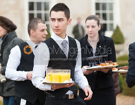 Stapleford Park staff at the meet