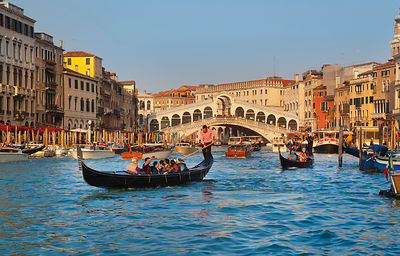 Italy, Venice, Grand Canal and Rialto Bridge