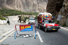 Karakoram highway from Gilgit to Karimabad