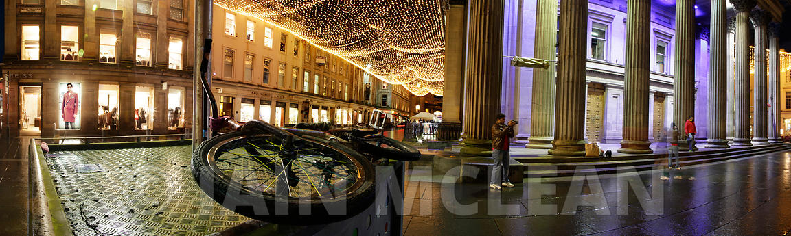 Panoramic photography of Glasgow..Gallery of Modern Art, Royal Exchange Square..Picture Copyright:.Iain McLean,.79 Earlspark ...