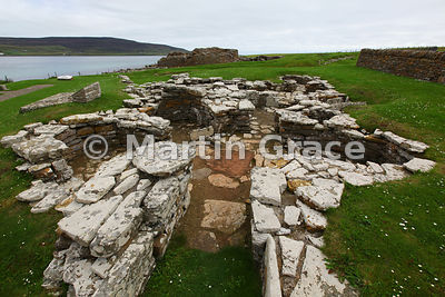The Pictish (4th or 5th century AD) Shamrock House at the Broch of Gurness site, West Mainland, Orkney, United Kingdom