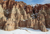 Snow at Cathedral Gorge