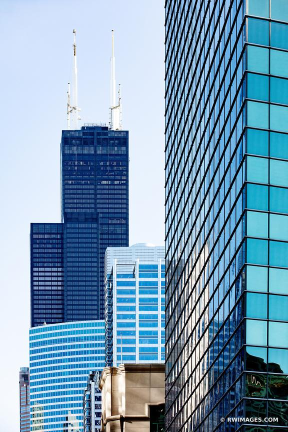 WILLIS SEARS TOWER CHICAGO ILLINOIS COLOR VERTICAL