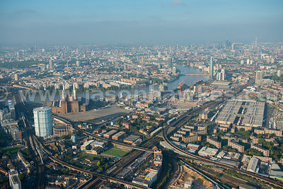 Aerial view of Battersea, London