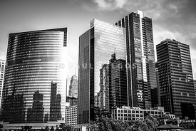 Chicago Loop Black and White Picture