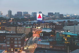 Boston Skyline Aerial Citgo Sign Photo
