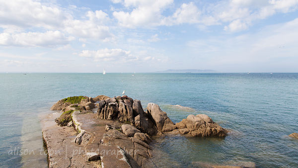 Beach and harbour, Dalkey, ireland