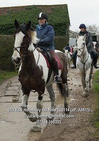 A ride out with the Kent and Surrey Bloodhounds to Holmebury Hill and back.