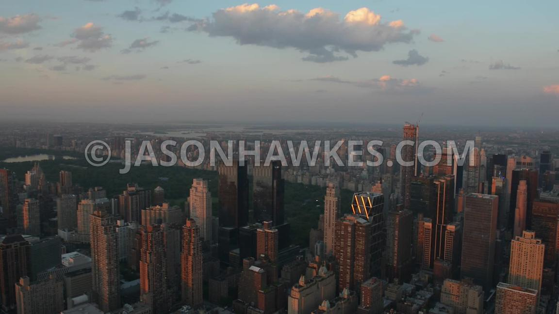Manhattan, New York. Aerial footage