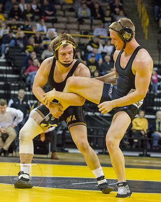 Iowa vs Purdue Wrestling, January 6, 2013