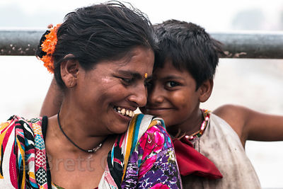 Dalit woman and her daughter, Haridwar, India