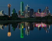 Night Time Reflections of Dallas