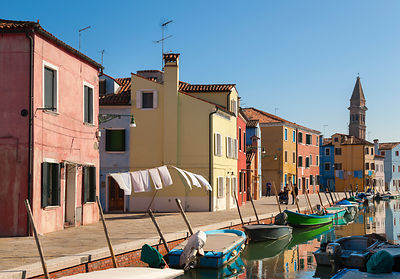 Italy, Venice, colourful houses on Burano island