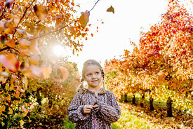 Younger Nordic girl and pear trees 18