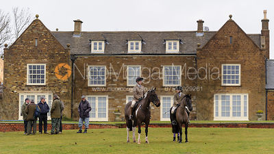 The meet at Bleak House - The Cottesmore Hunt at Bleak House
