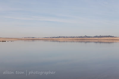 Folsom Lake with very little water, January 2014