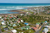 view over the town l'Agulhas, Western Cape, South Africa
